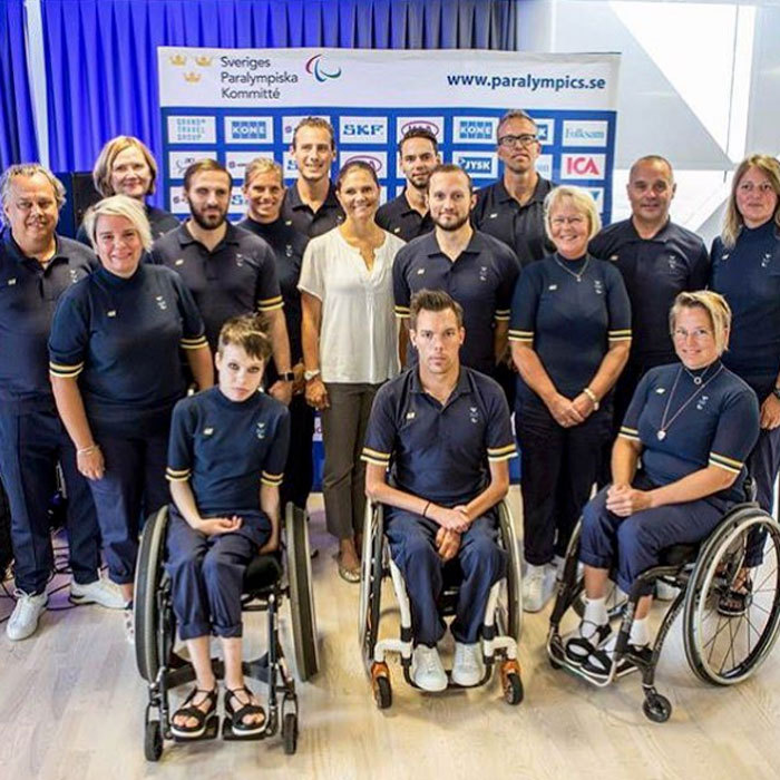 Off to Rio! Crown Princess Victoria wished members of the Swedish Paralympic team good luck at their upcoming Paralympic Games in Brazil.