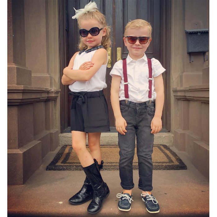 "Neil Patrick Harris's twins Harper and Gideon are too cool for school! The <i>How I Met Your Mother</i> actor shared an adorable snapshot of his twins and their stylish back to school ensembles, writing, ""Kindergarten fits these two well. #firstdayofschool.""