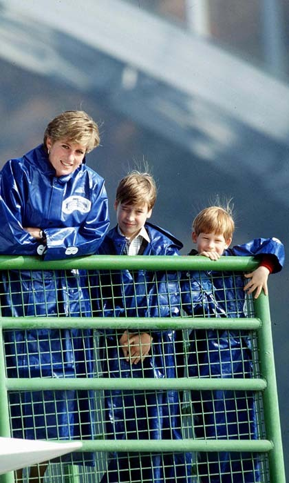 Harry enjoyed quality time with his mom Princess Diana, and brother Prince William on the Maid of the Mist during a trip to Canada's Niagara Falls.