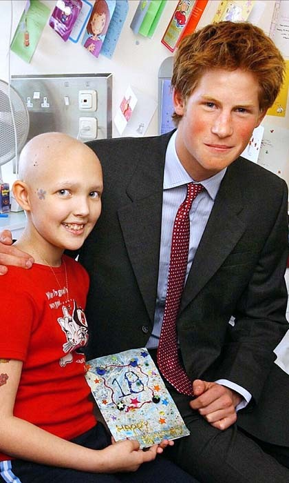 The royal received a birthday card from a Leukaemia patient named Samantha Ledster, during Harry's 2002 visit to the Great Ormond Street Hospital.