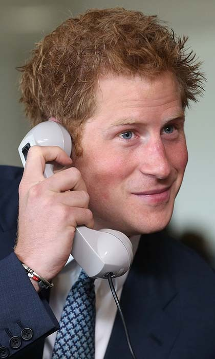 Hello, it's Harry! The royal stepped onto the trading floor during the 2013 BGC Charity Day, which is in memory of individuals who died in the World Trade Centre attacks.