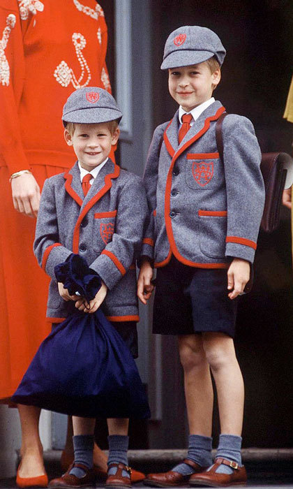 Prince Harry had his big brother William by his side for his first day at Wetherby School.
