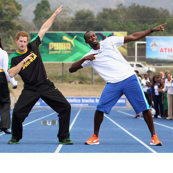 Prince Harry for the win! The royal raced Olympic champion Usain Bolt at the University of the West Indies while visiting Jamaica in 2012. 