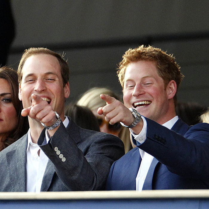 The royal brothers laughed it up at the Diamond Jubilee, Buckingham Palace Concert in 2012.