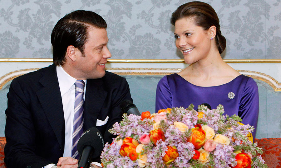 It's official! Victoria and Daniel gazed into each other's eyes as they announced their engagement during a press conference at the royal palace on February 24, 2009. 