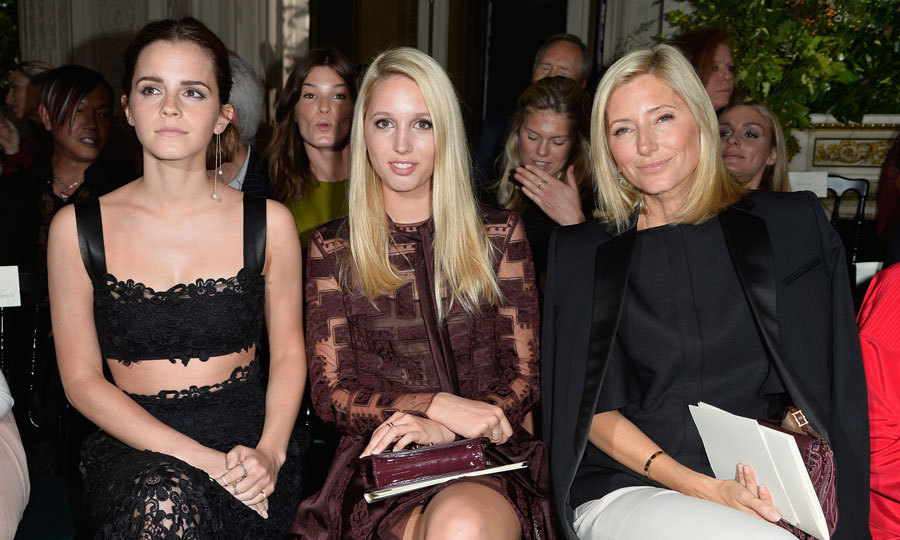 "Fashionable mother-daughter pair Princess Marie-Chantal and Princess Olympia of Greece were joined by actress <a href=""https://us.hellomagazine.com/tags/1/emma-watson/""><strong>Emma Watson</strong></a> in the front row of the Valentino show during Paris Fashion Week - Haute Couture Fall/Winter 2014-2015.