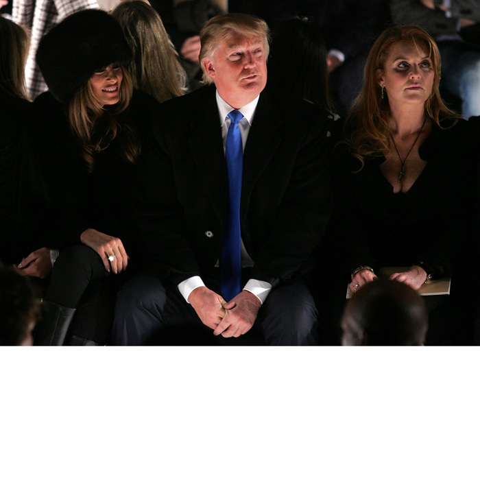 Sarah Ferguson watched the Michael Kors Fall 2007 show in New York City alongside businessman Donald Trump and his wife Melania.