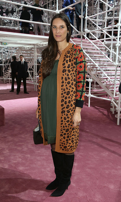 Tatiana Casiraghi stepped out in a fashionable maternity ensemble to the Christian Dior Haute Couture Spring/Summer 2015 show in Paris, while pregnant with daughter India Casiraghi.
