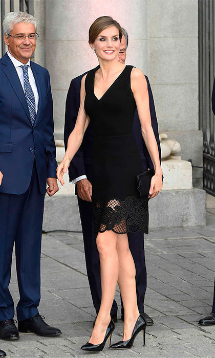 Queen Letizia Of Spain Steps Out For The Opera On Her Birthday