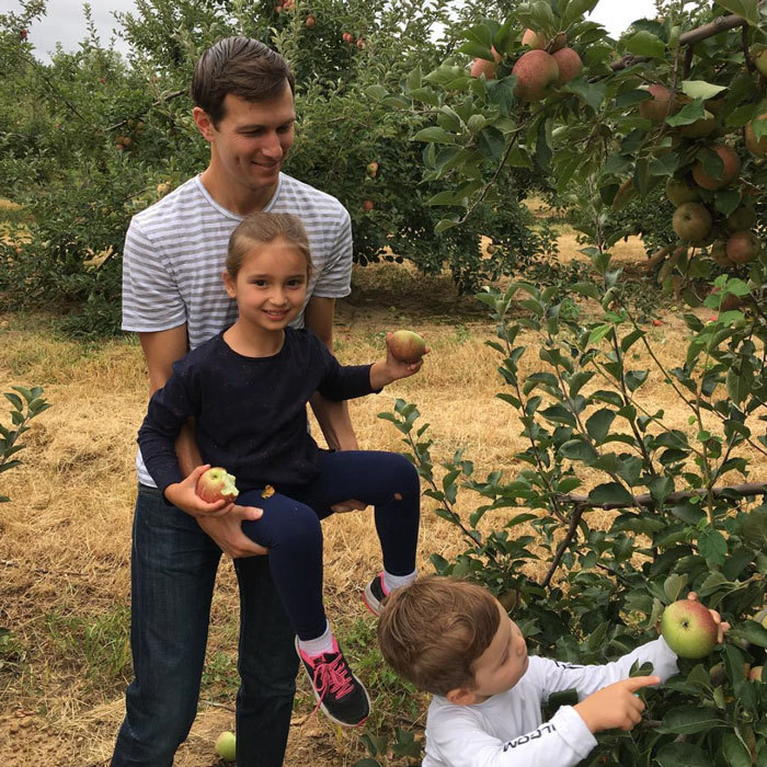 "Ivanka kicked off the fall season early in September with one of her family's sweet traditions. Posting a photo of her son Joseph picking an apple, while her husband Jared cradled Arabella, she wrote, ""One of our favorite fall traditions--apple picking in New Jersey!""