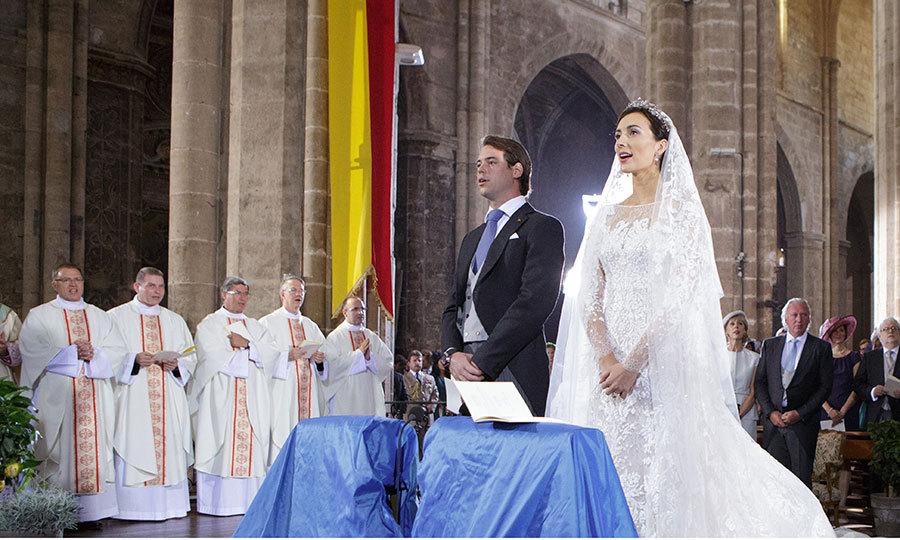 The magnificent Provençal wedding was attended by the likes of Monaco's Pierre Casiraghi and Belgium's Prince Laurent.