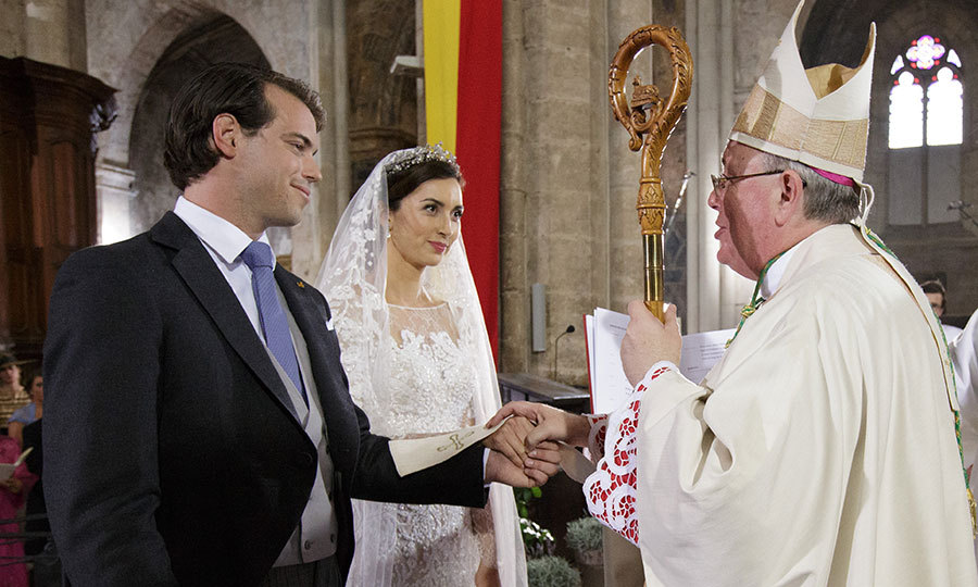 But before the honeymoon, and four days after their civil nups, the Prince and Princess held a religious ceremony in the South of France at the Basilique Sainte Marie-Madeleine in Saint-Maximin-La-Sainte-Baume. 