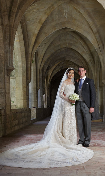 The newlyweds' official photos, snapped inside the Couvent Royal De Saint-Maximin after their wedding ceremony.