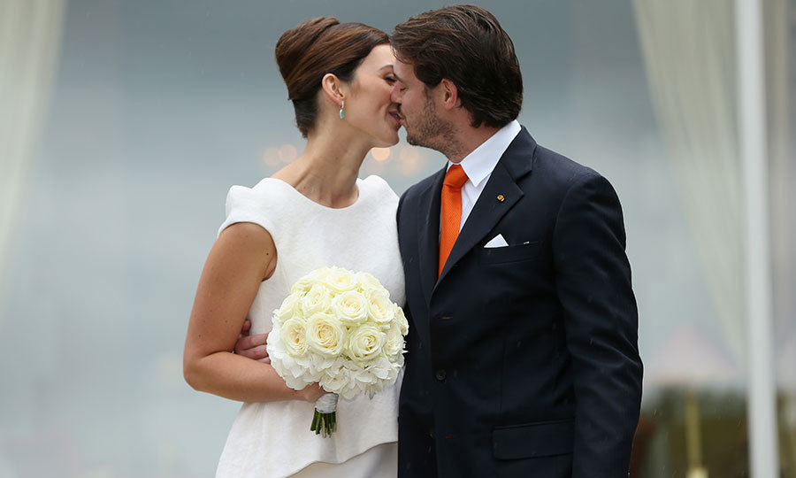 "Another stunning brunette joined the ranks of Europe's princesses with the wedding of <a href=""https://us.hellomagazine.com/tags/1/prince-felix-of-luxembourg/""><strong>Prince Felix of Luxembourg</strong></a> and his German sweetheart <a href=""https://us.hellomagazine.com/tags/1/claire-lademacher""><strong>Claire Lademacher</strong></a>. Here the couple kiss after taking their vows at their civil ceremony at Villa Rothschild Kempinski on September 17, 2013 in Konigstein, Germany. 