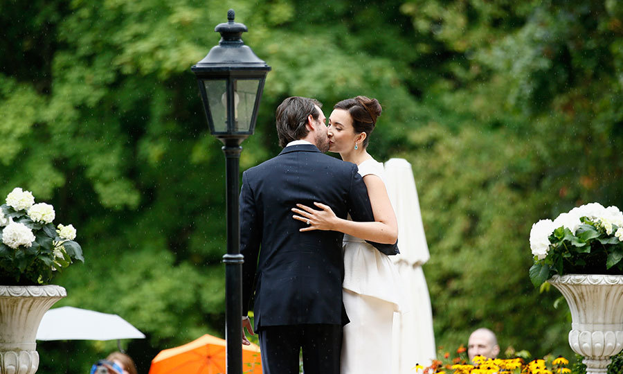 Villa Rothschild Kempinski, located near Frankfurt, provided a beautifully lush backdrop for the late summer wedding. 