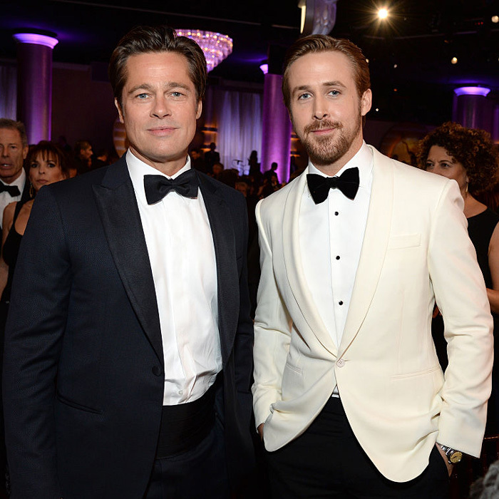 In January, 2016, the actor attended the 73rd Annual Golden Globe Awards sans Angie, presenting footage from his film <i>The Big Short</i> alongside his equally dapper co-star Ryan Gosling.