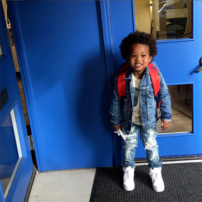 "Back to school smiles! <a href=""https://us.hellomagazine.com/tags/1/ciara/""><strong>Ciara</strong></a>