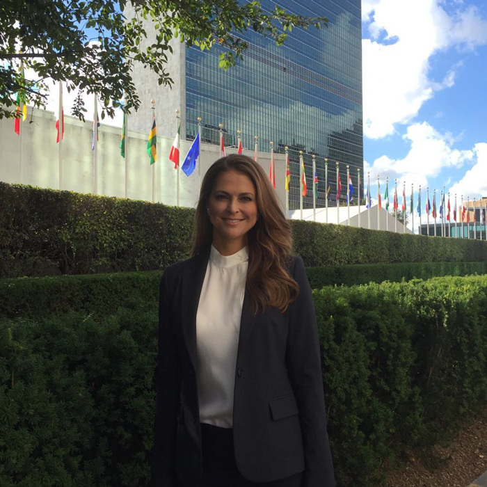 "<a href=""https://us.hellomagazine.com/tags/1/Princess-Madeleine/""><strong>Princess Madeleine</strong></a> was dressed to the nines for her day at the United Nations. The Swedish royal stepped out to attend a high level meeting on""Solutions to Achieve the Sustainable Development Goals for Children."" The mom-of-two noted, ""This meeting aims to illustrate the power of working TOGETHER to address the needs of children and ending violence against children.""