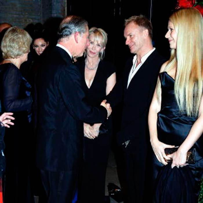 Sting with his wife Trudie Styler and Gwyneth Paltrow were on hand at an event Prince Charles threw in 2006.