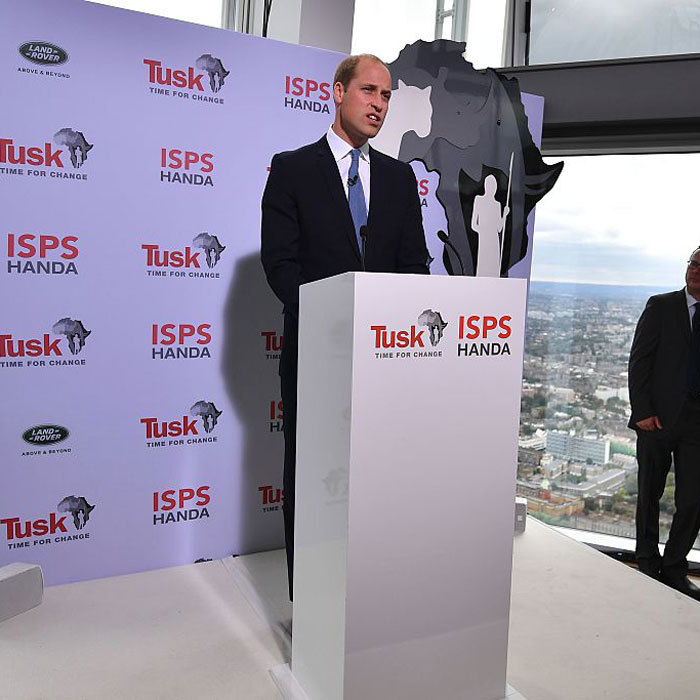 Prince William spoke out against poaching and illegal wildlife trade, while delivering the keynote speech at the conservation charity Tusk's 'Time For Change event' in London. 