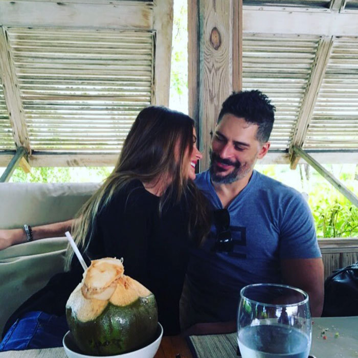Wedded bliss! Sofia Vergara and Joe Manganiello still appear to be in their honeymoon phase despite nearly a year of marriage under their belt. The actress shared a sweet photo of herself and husband enjoying a coconut drink while on vacation in Turks and Caicos.