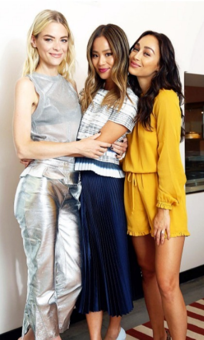 September 21: J-Squared! Jamie Chung and Jaime King attended a luncheon celebrating WEI Beauty's Detoxifying Skincare Line in L.A.