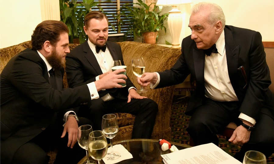 September 21: A gentleman's toast! Jonah Hill, Leonardo DiCaprio and Entertainment Icon Award recipient Martin Scorsese raised a glass during the filmmaker's Friars Club ceremony at Cipriani Wall Street in NYC. 