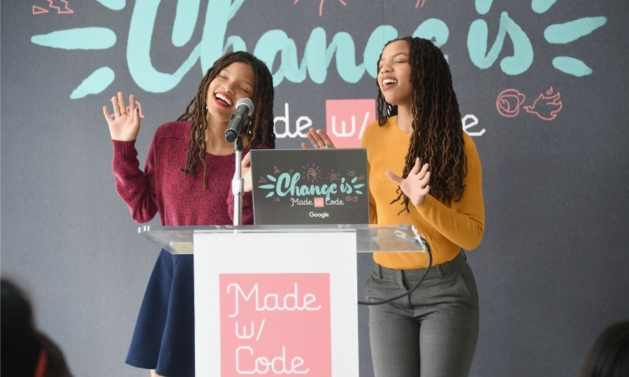 September 20: Beyonce's angels, Chloe Bailey and Halle Bailey attended Google's Change is Made with Code event in NYC. 