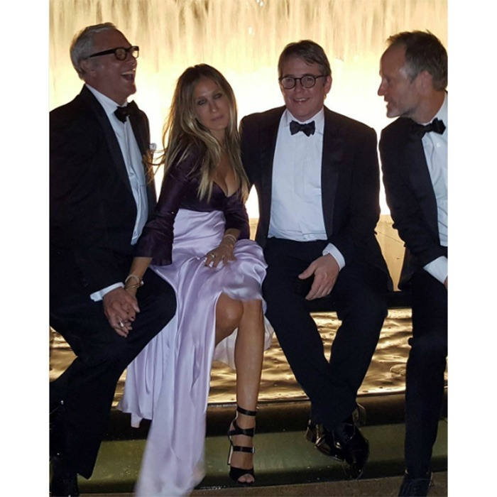 "September 20: <a href=""https://us.hellomagazine.com/tags/1/sarah-jessica-parker/""><strong>Sarah Jessica Parker</strong></a> posed for her annual photo with the guys including husband Matthew Broderick during the New York City Ballet 2016 Fall Gala at David H. Koch Theater at Lincoln Center. 