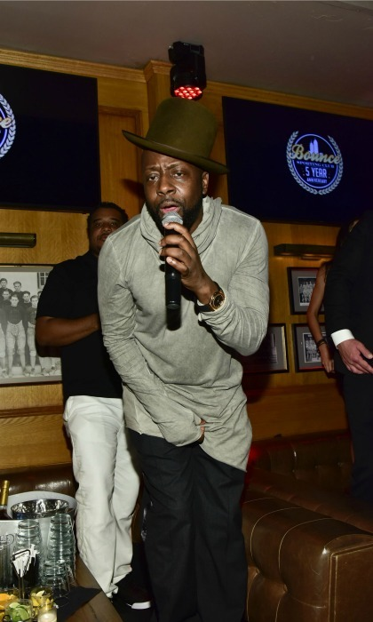 September 20: Wyclef Jean took the stage during the Bounce Sporting Club Fifth Anniversary celebration in NYC. 