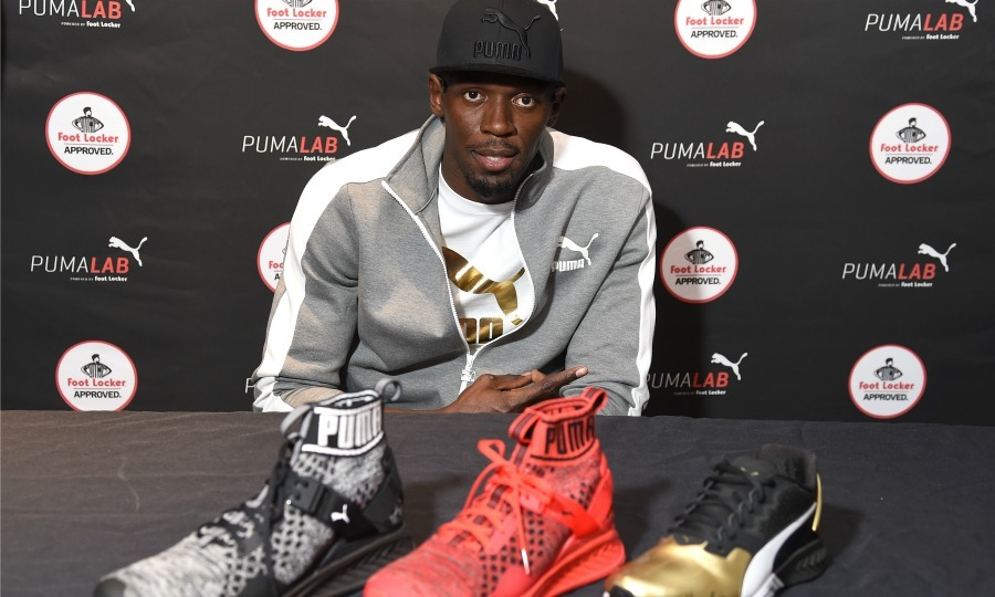 September 22: Usain Bolt visited the PUMA Lab powered by Foot Locker in NYC.