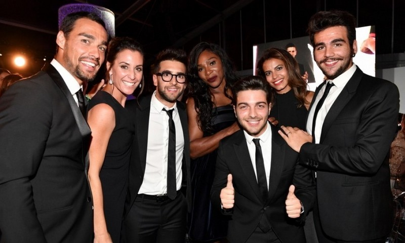 September 20: The guys of Il Volo enjoyed dinner and chatting with Serena Williams before closing the Novak Djokovic Foundation gala presented by Giorgio Armani with a moving performance that had Novak singing along in Milan.