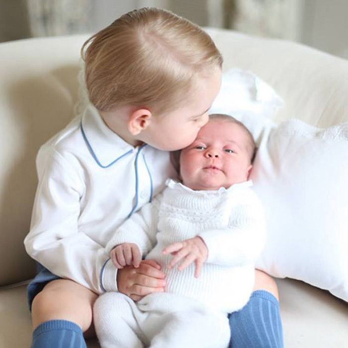 "Doting big brother, <a href=""https://us.hellomagazine.com/tags/1/prince-george/""><strong>Prince George</strong></a>, placed a gentle kiss on his newborn sister, <a href=""https://us.hellomagazine.com/tags/1/princess-charlotte/""><strong>Princess Charlotte</strong></a>'s forehead not long after her birth on May 2, 2015.