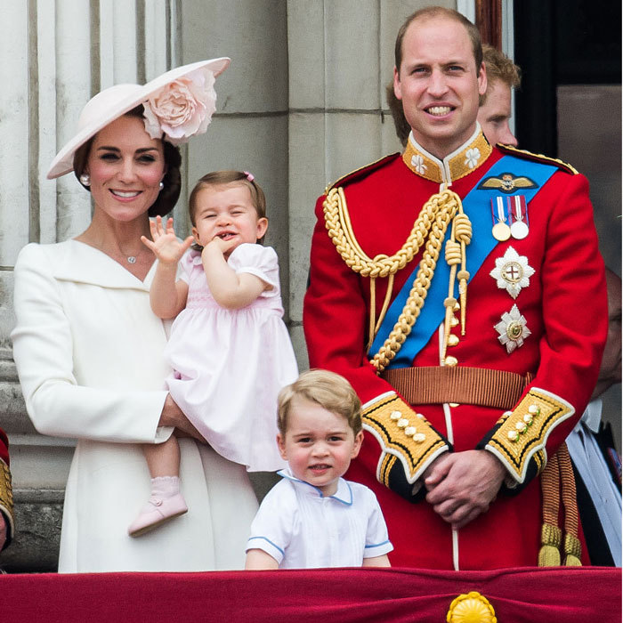Prince George and Princess Charlotte hammed it up for the cameras, smiling and waving from the balcony of Buckingham Palace during the June 2016 Trooping the Colour.