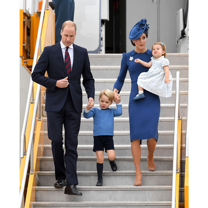 Charlotte had her parents and brother George by her side as she embarked on her first royal tour of Canada in September 2016.