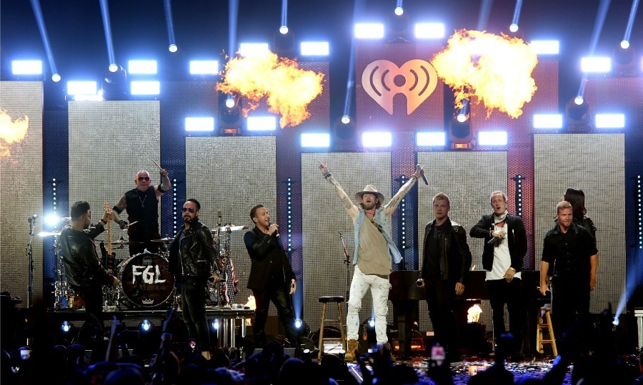 September 24: Florida Georgia Line gave the fans the ultimate nostalgic experience by bringing out the Backstreet Boys during their performance at the 2016 iHeartRadio Music Festival at T-Mobile Arena in Las Vegas. 