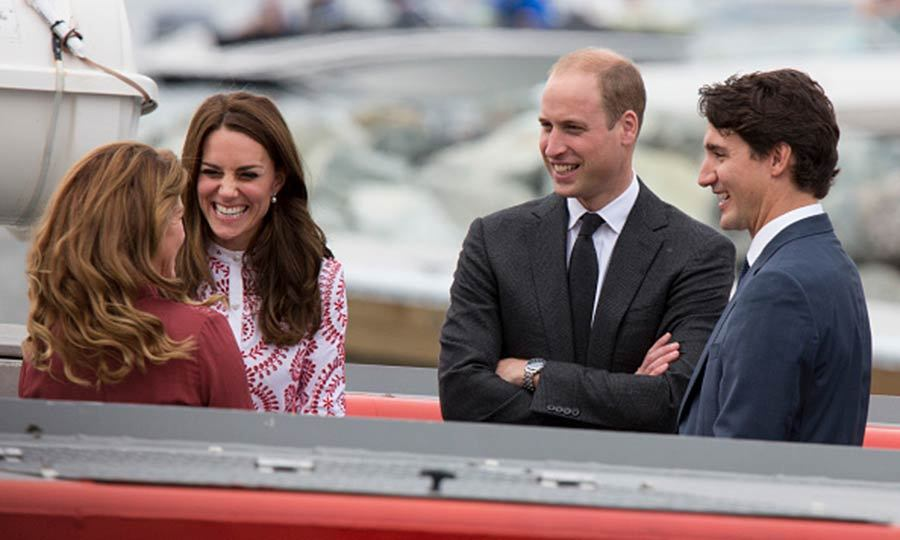 The Cambridges and the Trudeaus seemed to be hitting it off as they traveled by boat during the Canadian Coast Guard and Vancouver First Responders event at Kitsilano Coastguard Station. 