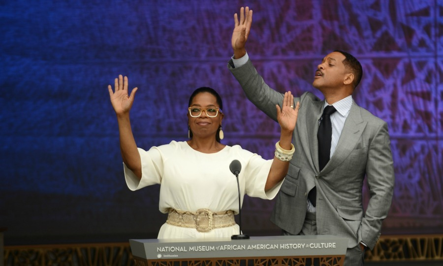 "September 24: <a href=""https://us.hellomagazine.com/tags/1/will-smith/""><strong>Will Smith</strong></a> and Oprah Winfrey greeted the crowd during the dedication ceremony of the National Museum of African American History and Culture in Washington, D.C. 