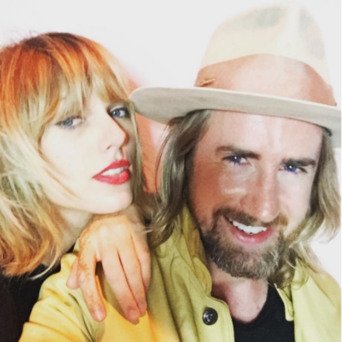 "September 24: Party time! <a href=""https://us.hellomagazine.com/tags/1/taylor-swift/""><strong>Taylor Swift</strong></a> and celebrity hairstylist Gareth Bromell had some photo booth fun during Liberty Ross' birthday celebration in L.A. 
