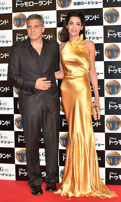 The Oscar winner had his golden girl by his side for the 2015 Tokyo premiere of his film <i>Tomorrowland</i>.