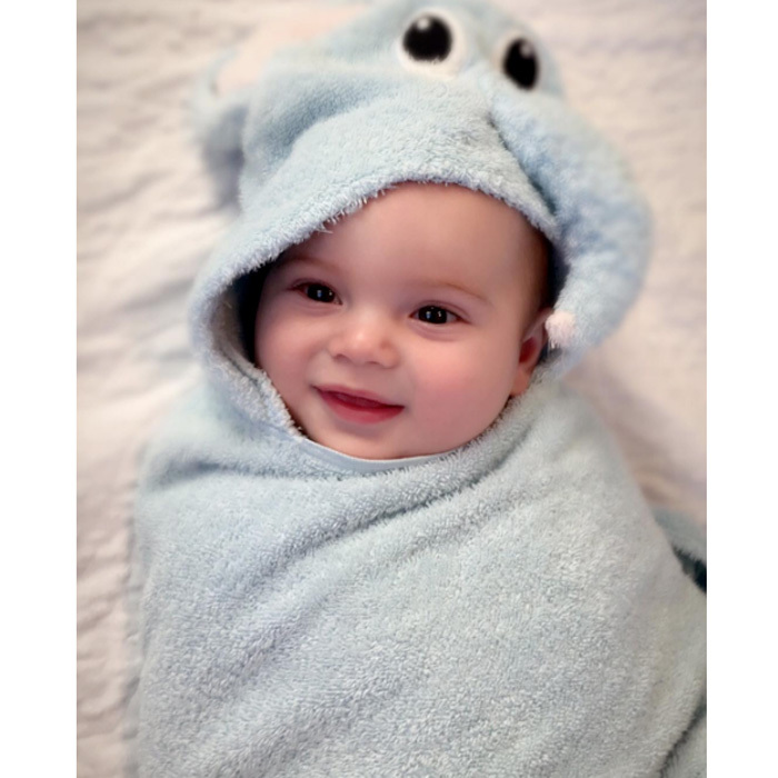 "Presidential candidate Donald Trump's grandson looked snug as a bug wrapped in an animal hooded towel! Ivanka captioned the adorable photo of her baby boy, ""Little Theodore is ready to watch grandpa in tonight's #debate! #DebateNight #Debates.""