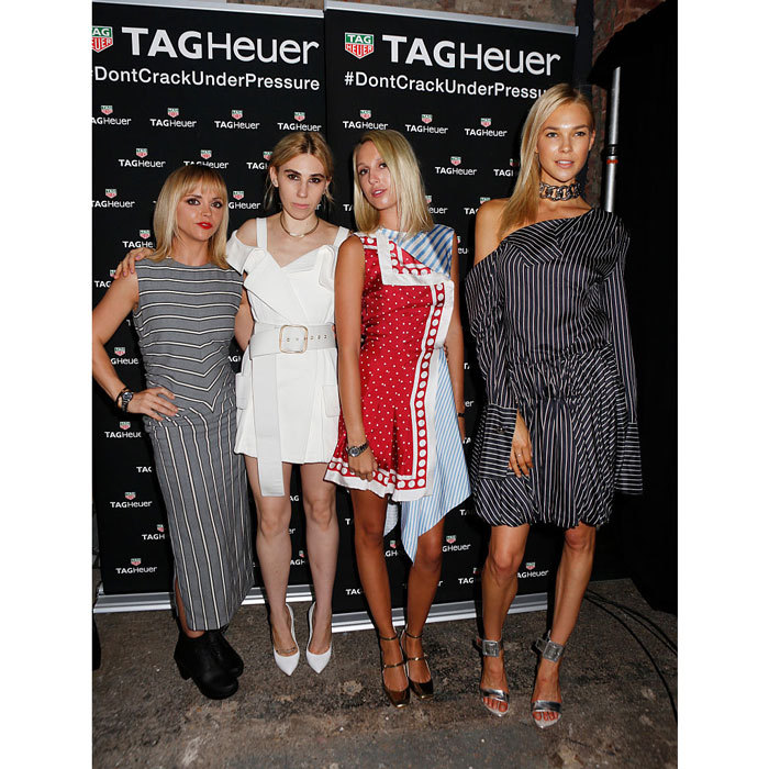 Hollywood and royalty collided at The MONSE SS17 runway show sponsored by TAG Heuer. Christina Ricci, Zosia Mamet, Princess Olympia of Greece, and Britt Maren posed for a fun fashion week photo together in New York City. 