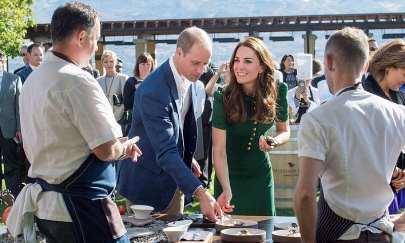 "The Duke and Duchess were able to try some local delicacies including the geoduck, which is a giant clam with a long neck. William said, ""Presentationally they are quite challenging."" 