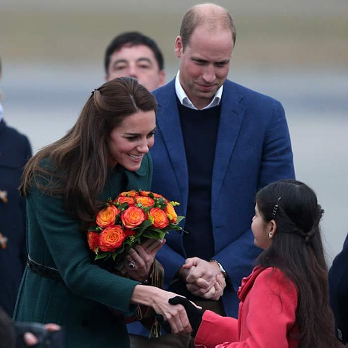 Bundled up against the cold, the royal couple had a meet-and-greet as they arrived in Whitehorse during the Royal Tour.
