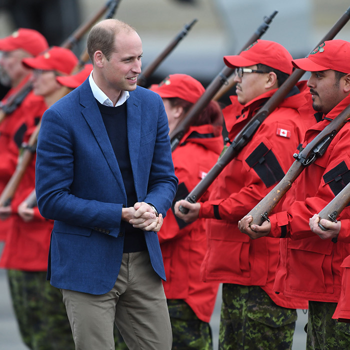 The Duke of Cambridge checked out the Canadian Rangers at Whitehorse Airport.
