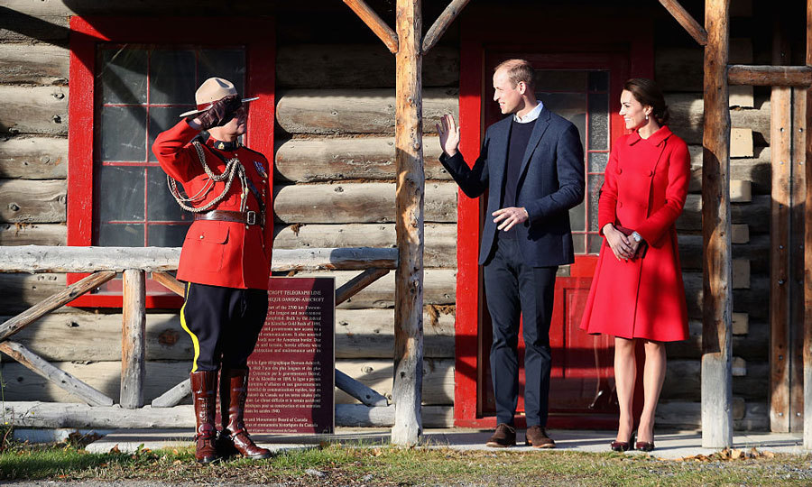 After an overnight stay in Canada's Yukon territory, Prince William and Kate Middleton continued their tour of Whitehorse with a visit to the MacBride Museum, where they were saluted by a Mountie.