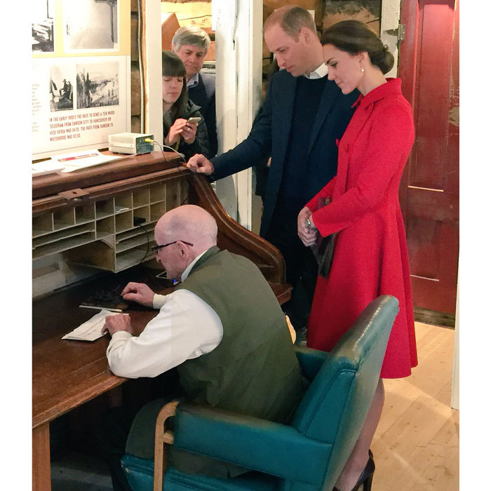 "While visiting Yukon's first telegraph office located at the MacBride Museum, the couple sent the museum's first ever telegraph to Twitter message. The royals' tweet read: ""THE DUKE AND DUCHESS OF CAMBRIDGE, SEPTEMBER 2016, WHITEHORSE YUKON.""