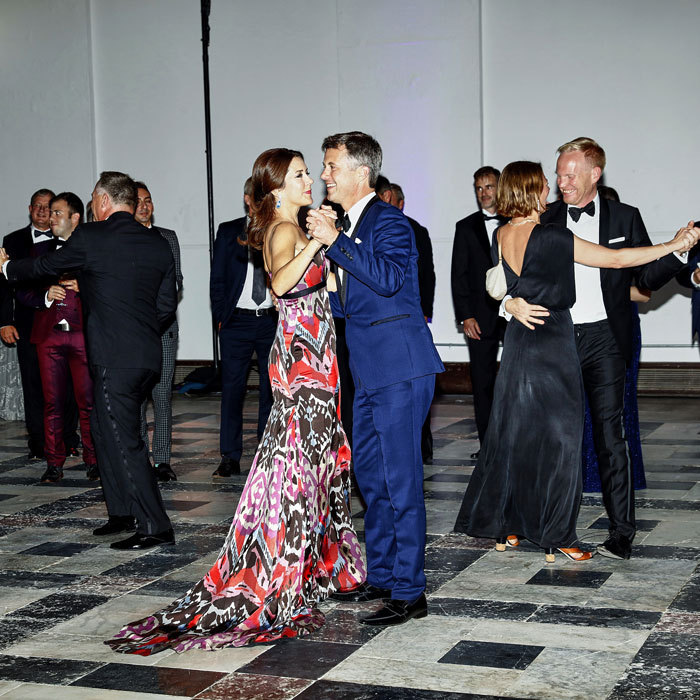 Mary and Frederik showed off their smooth moves on the dance floor at the Grand Ball held at the Smithsonian Arts and Industries Building in D.C.