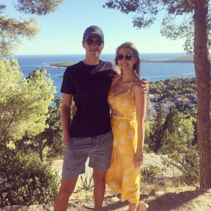 Ivanka and Jared were very much the happy couple as they posed for a picture midway through hiking in Hvar during a 2016 summer vacation.
