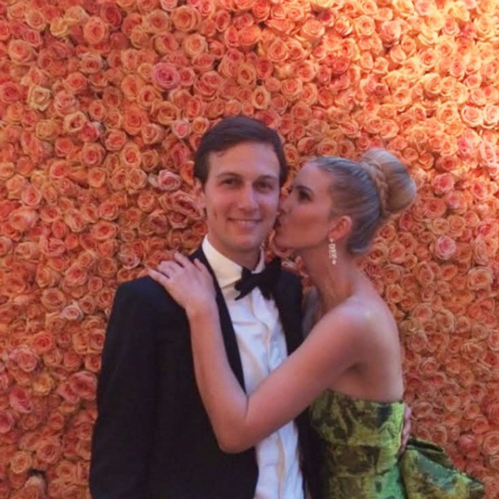 Jared was surrounded by beautiful roses, including his wife at the 2014 Met Gala in New York.
